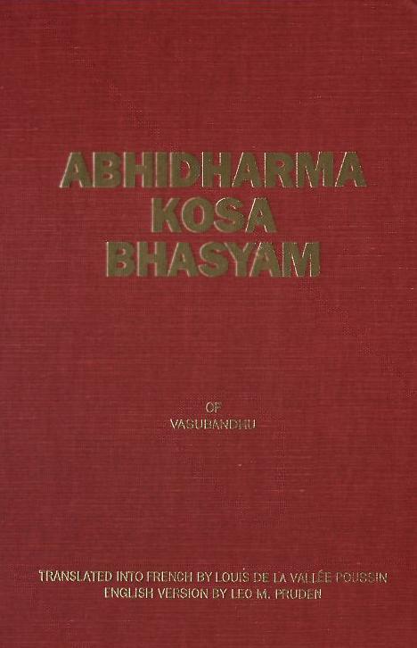 Abhidharmakosabhasyam-Vasubandhu