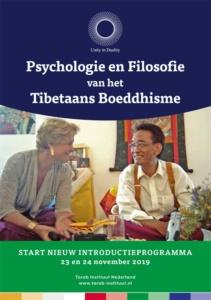 Flyerfront Introductieprogramma Psychologie en Filosofie van het Tibetaans Boeddhisme Najaar 2018